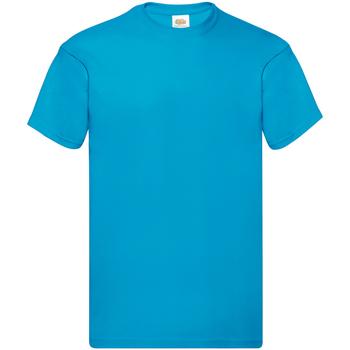 textil Herre T-shirts m. korte ærmer Fruit Of The Loom SS12 Azure Blue