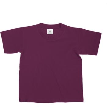 textil Børn T-shirts m. korte ærmer B And C Exact Burgundy