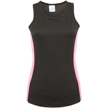 textil Dame Toppe / T-shirts uden ærmer Awdis JC016 Jet Black/Electric Pink