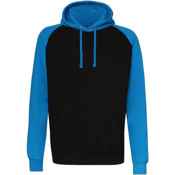 textil Herre Sweatshirts Awdis JH009 Jet Black/Sapphire Blue
