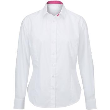 textil Dame Skjorter / Skjortebluser Alexandra AX060 White/ Pink