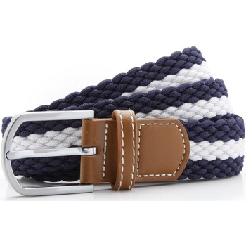 Accessories Herre Bælter Asquith & Fox Two Colour Stripe Navy/White
