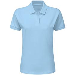 textil Dame Polo-t-shirts m. korte ærmer Sg SG50F Sky Blue