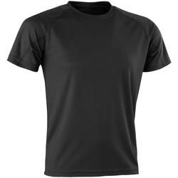 textil T-shirts m. korte ærmer Spiro Aircool Black