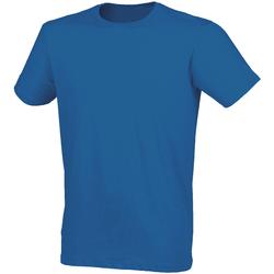 textil Herre T-shirts m. korte ærmer Skinni Fit SF121 Heather Blue