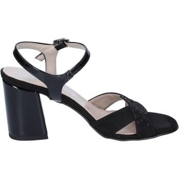 Sko Dame Sandaler Lady Soft sandali camoscio sintetico vernice Nero