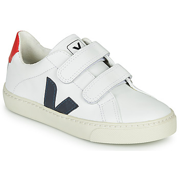 Sko Børn Lave sneakers Veja SMALL-ESPLAR-VELCRO Hvid / Blå / Rød