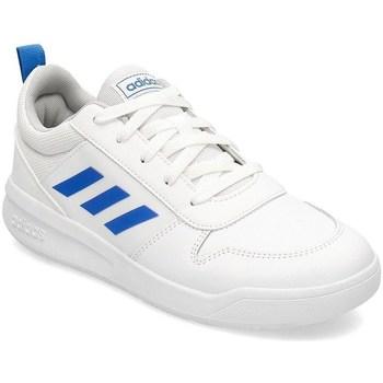 Sko Børn Snøresko & Richelieu adidas Originals Tensaur K Hvid, Blå