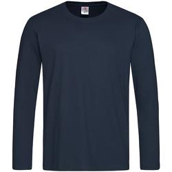 textil Herre Langærmede T-shirts Stedman  Blue Midnight