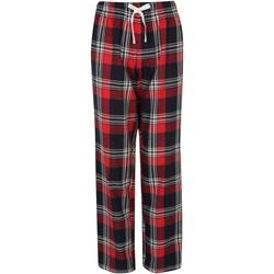 textil Dame Pyjamas / Natskjorte Skinni Fit Tartan Red/Navy Check