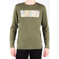 textil Herre Langærmede T-shirts Lee L848AI olive green