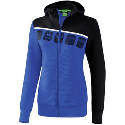 textil Dame Sportsjakker Erima Veste d'entrainement à capuche femme bleu/noir/blanc