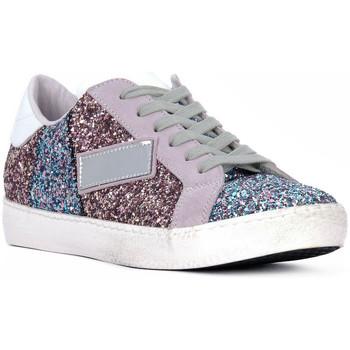 Sko Dame Lave sneakers At Go GO GLITTER NEWBIG Bianco