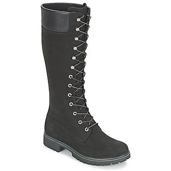 Sko Dame Chikke støvler Timberland WOMEN'S PREMIUM 14IN WP BOOT Sort / Nubuck