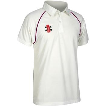 textil Børn Polo-t-shirts m. korte ærmer Gray-Nicolls GN02J Ivory/ Maroon