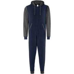 textil Pyjamas / Natskjorte Comfy Co CC003 Navy/Charcoal