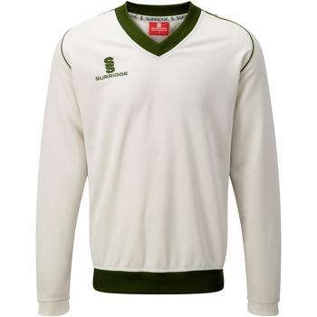 textil Herre Sweatshirts Surridge SU008 White/ Green trim