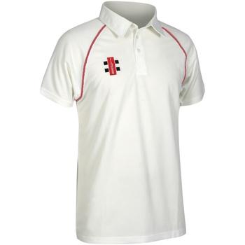 textil Børn Polo-t-shirts m. korte ærmer Gray-Nicolls GN02J Ivory/ Red
