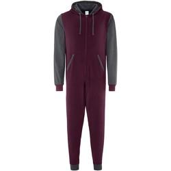 textil Buksedragter / Overalls Comfy Co CC003 Burgundy/Charcoal
