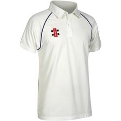 textil Herre Polo-t-shirts m. korte ærmer Gray-Nicolls GN002 Ivory/ Navy