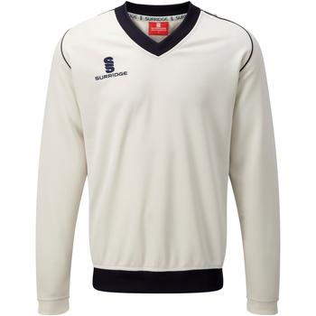 textil Herre Sweatshirts Surridge SU008 White/ Navy trim
