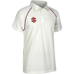 textil Herre Polo-t-shirts m. korte ærmer Gray-Nicolls GN002 Ivory/ Maroon