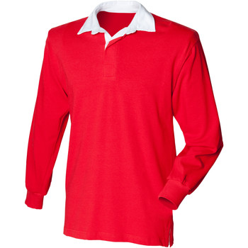 textil Børn Polo-t-shirts m. lange ærmer Front Row  Red