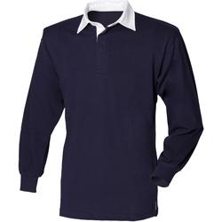 textil Børn Polo-t-shirts m. lange ærmer Front Row  Navy