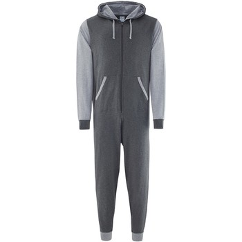 textil Buksedragter / Overalls Comfy Co CC003 Charcoal/Heather Grey