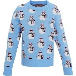 textil Pige Sweatshirts Christmas Shop CS027 Light Blue