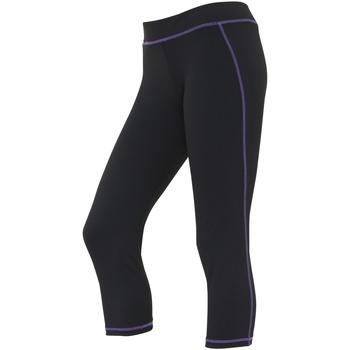 textil Dame Leggings Awdis JC086 Jet Black/Purple