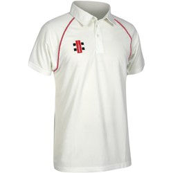 textil Herre Polo-t-shirts m. korte ærmer Gray-Nicolls GN002 Ivory/ Red