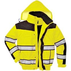 textil Herre Vindjakker Portwest PW332 Yellow/ Black