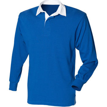 Polo-t-shirts m. lange ærmer Front Row  -