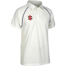 textil Børn Polo-t-shirts m. korte ærmer Gray-Nicolls GN02J Ivory/ Navy