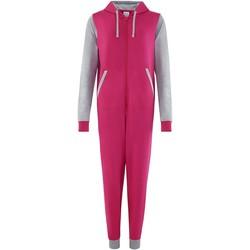 textil Buksedragter / Overalls Comfy Co CC003 Hot Pink/Heather Grey