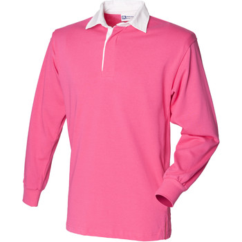 textil Børn Polo-t-shirts m. lange ærmer Front Row FR109 Bright Pink