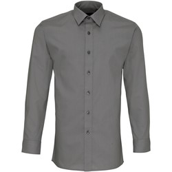 textil Herre Skjorter m. lange ærmer Premier PR204 Dark Grey