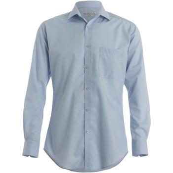textil Herre Skjorter m. lange ærmer Kustom Kit KK113 Light Blue