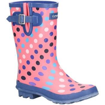 Sko Dame Gummistøvler Cotswold  Pink/Multi Spot