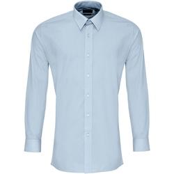 textil Herre Skjorter m. lange ærmer Premier PR204 Light Blue