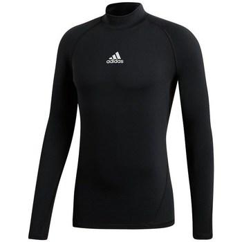 textil Dame Langærmede T-shirts adidas Originals Alphaskin Climawarm Golf Sort