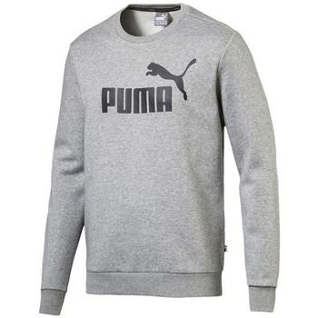 textil Herre Sweatshirts Puma Ess Logo Crew Sweat FL Big Logo ME Grå
