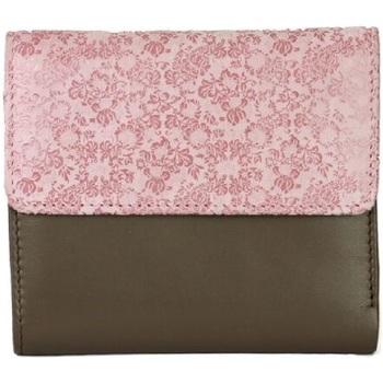 Tasker Dame Tegnebøger Eastern Counties Leather  Taupe/Pink Foil