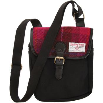 Tasker Bæltetasker & clutch  Harris Tweed  Cerise