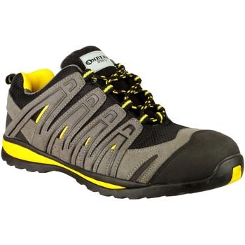 Sko Herre Lave sneakers Amblers 42C S1P HRO Black/Grey/Yellow