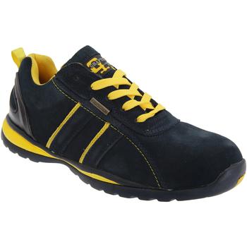 Sko Herre Lave sneakers Grafters  Navy Blue/Yellow