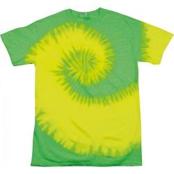 textil Dame T-shirts m. korte ærmer Colortone Rainbow Fluorescent Yellow/ Lime