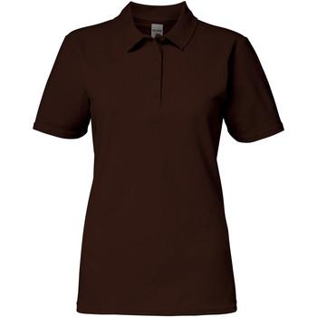textil Dame Polo-t-shirts m. korte ærmer Gildan 64800L Dark Chocolate