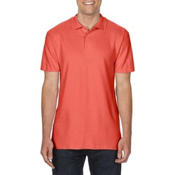 textil Herre Polo-t-shirts m. korte ærmer Gildan 64800 Bright Salmon